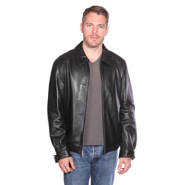 Mason & Cooper Men's Walden Leather Bomber Jacket - Free Shipping ...