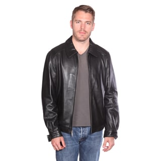 NuBorn Men&39s &39Roger&39 Leather Bomber Jacket Thinsulate Lining