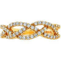 Boston Bay Diamonds 14k Yellow Gold 1/2ct TDW Diamond Woven Ring - White
