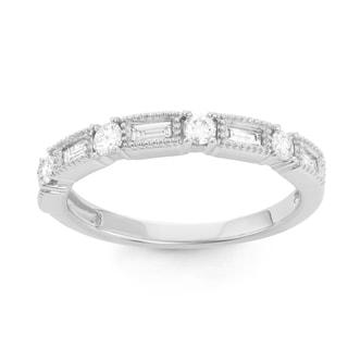 Boston Bay Diamonds 14k White Gold 3/8ct TDW Diamond Stackable Ring (H-I, SI1-SI2)