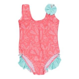 Dippin Daisy's Infant and Toddler's Pink Popsicle One-piece Girl's with Ruffles