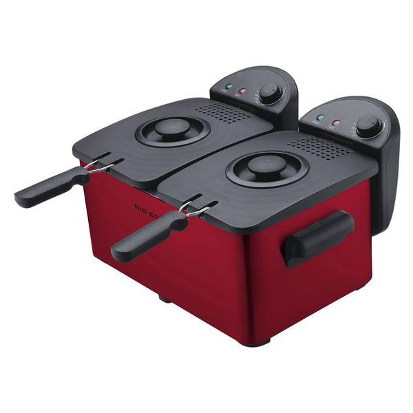 Shop Big Boss Dual Deep Fryer 1500 Watts, 3-quart Per