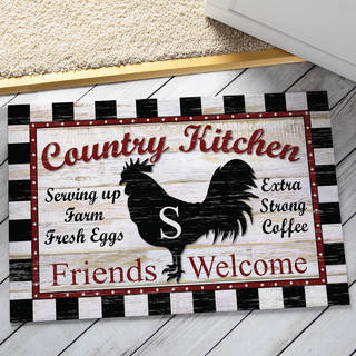 Country Kitchen Personalized Floor Mat - 18 x 27 (More options available)