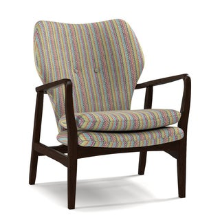 Portfolio Charlie Vibrant Multi-Colored Wiggles Arm Chair