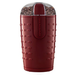 Ovente CG225 Red Electric Grinder with Stainless Steel Blades for Coffee