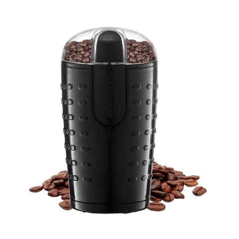 Ovente Electric Small Coffee Grinder 2.5 Ounce Storage, Black CG225B