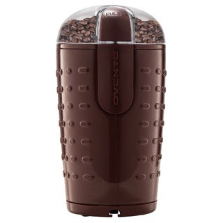 Ovente CG225 Brown Electric Coffee Grinder with Stainless Steel Blades