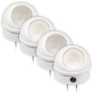 Maxxima Swivel Head LED Night Light With Sensor (Pack of 4)