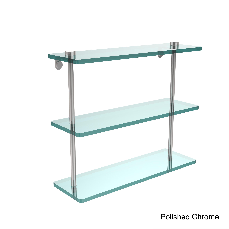 Allied Brass Ns-5/16pc 16in Triple Glass Shelf Polished Chrome | eBay