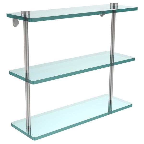 Allied Brass 16-inch Triple Tiered Glass Shelf