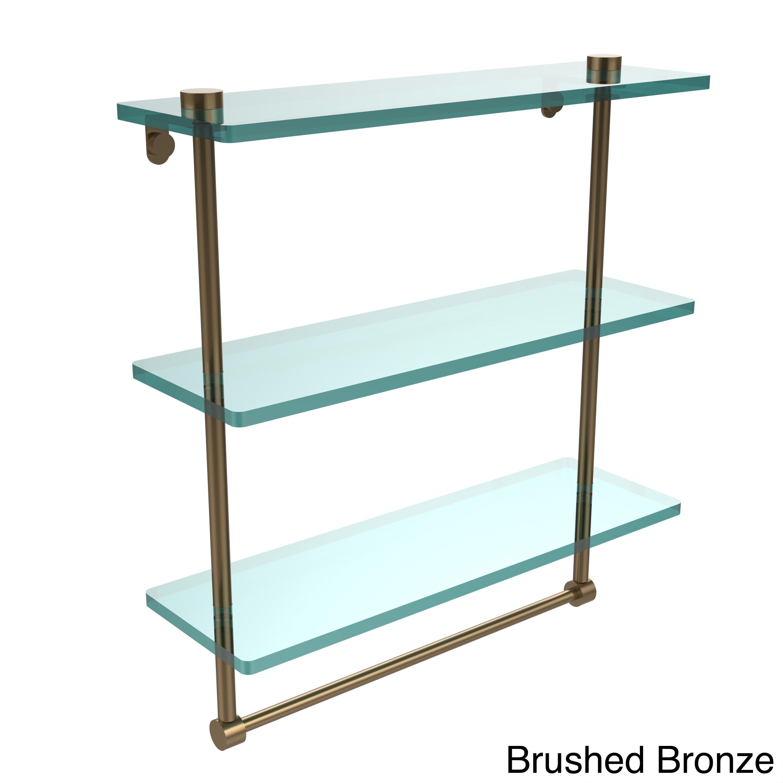 Allied Brass Ns-5/16tb-pni 16in Triple Glass Shelf With TB Polished ...