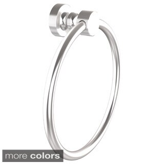 Allied Brass Foxtrot Collection Towel Ring (Option: Matte Black)
