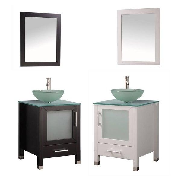 MTD Vanities Cuba 24-inch Single Sink Bathroom Vanity Set with Mirror and Faucet