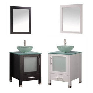 MTD Vanities Cuba 24-inch Single Sink Bathroom Vanity Set with Mirror and Faucet