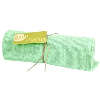 Retro Green Knitted Cotton Kitchen Towel