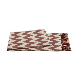 Handmade 100-percent Cotton IKAT Throw Chevron Grey, Chocolate Throw