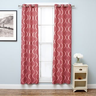 Home Fashion Designs Davenport Collection Printed Cotton Rich Room Darkening Grommet Curtain Panels - 38x84 inches - 2-Panel Set