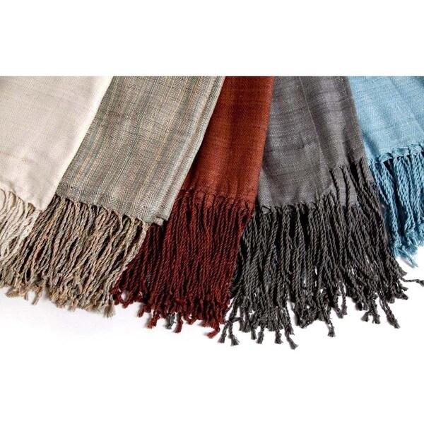 Natural Silk Throw