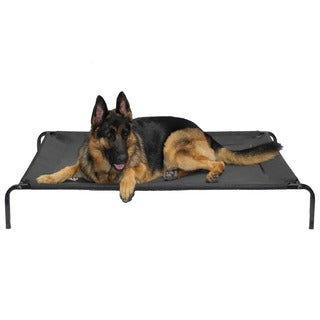 Go Pet Club Black Elevated Cooling Pet Bed Cot