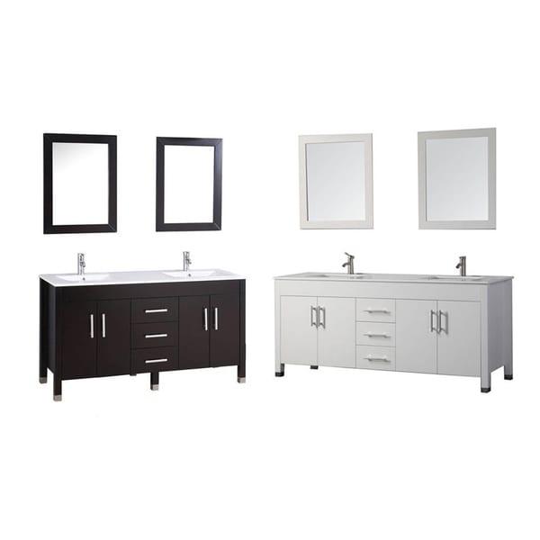 Shop mtd vanities monaco 84 inch double sink bathroom vanity set with mirror and faucet free for 84 inch double sink bathroom vanity
