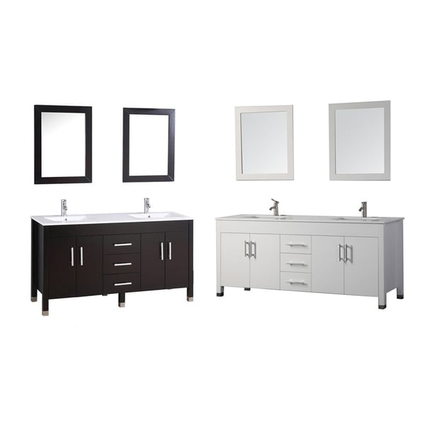 Mtd Vanities Monaco 84 Inch Double Sink Bathroom Vanity Set With Mirror And Faucet Free