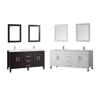 MTD Vanities Monaco 84-inch Double Sink Bathroom Vanity Set with Mirror and Faucet