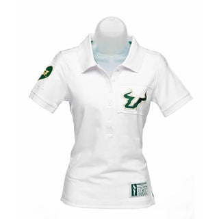 NCAA USF Ladies Collar Scholar Polo