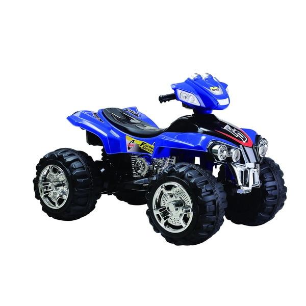 Best Ride On Cars 12V Blue Big 4 Wheeler ATV Ride-on