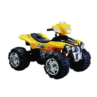 Best Ride On Cars 12V Yellow Big 4 Wheeler ATV Ride-on
