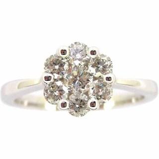 Kabella 14k Gold 3/4ct TDW Cluster Diamond Ring (G-H, SI2-SI3)