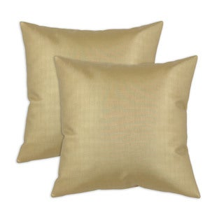 Shimmer Gold 17-inch Throw Pillow (set of 2)