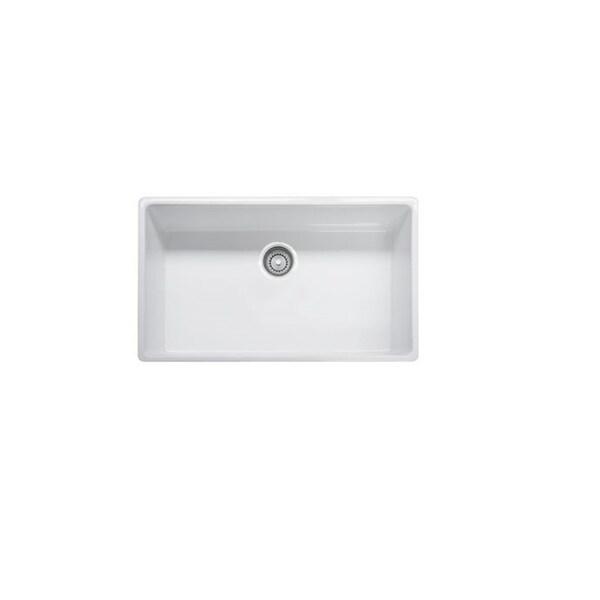 Franke Single Bowl : Franke Farm House Fireclay 33-inch Single Bowl Apron Front - White ...