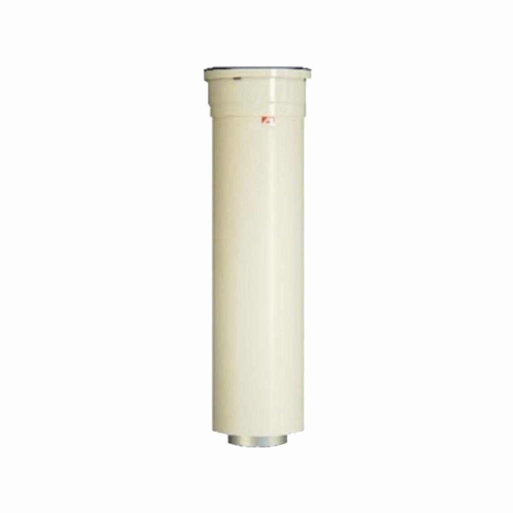 Rinnai 10-inch Vent Pipe Extention 224051 (White) (Metal)