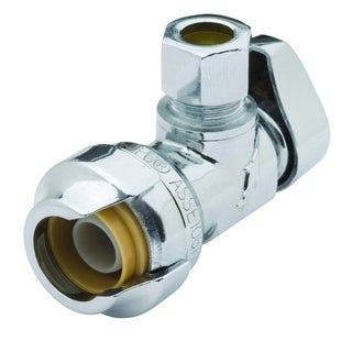 Sharkbite 0.5-inch x 3/8-inch Compression Angle Stop Lead Free