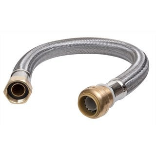 Sharkbite 0.75-inch x 0.75-inch Fip 18-inch Stainless Steel Braided Water Heater Connector Lead Free