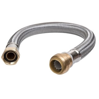 Sharkbite 0.75-inch x 0.75-inch Fip 24-inch Stainless Steel Braided Water Heater Connector Lead Free