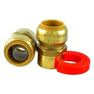 Sharkbite 0.75-inch x 0.75-inch Fnpt Lead Free Water Heater Installation Kit - Brass