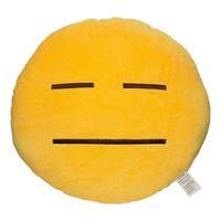 Emoji Helpless Yellow Round Plush Pillow