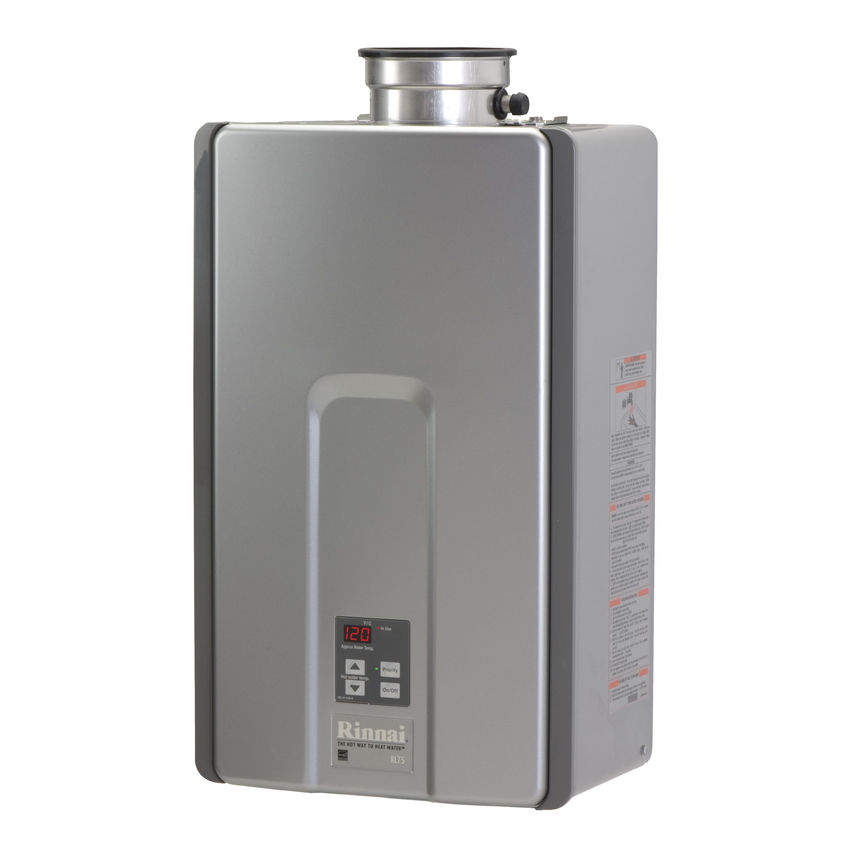 Rinnai Internal Max BTU 180000 Max Flow 7.5 GPM RL75iN (S...