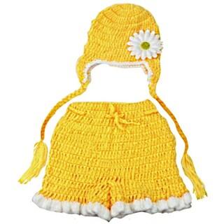 Majestic Milestones Girl's Cotton Crochet Newborn Photo Costume Prop