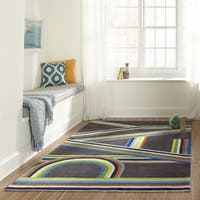 Momeni Lil Mo Hipster Blue Play Hand-Tufted Rug - 4' x 6'
