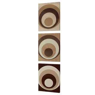 Dainolite Circa Design on Faux Suede Wall Art (Set of 3)