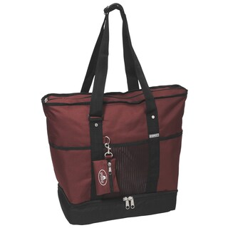 Everest 16.5-inch Deluxe Shopping Tote (Option: Burgundy)
