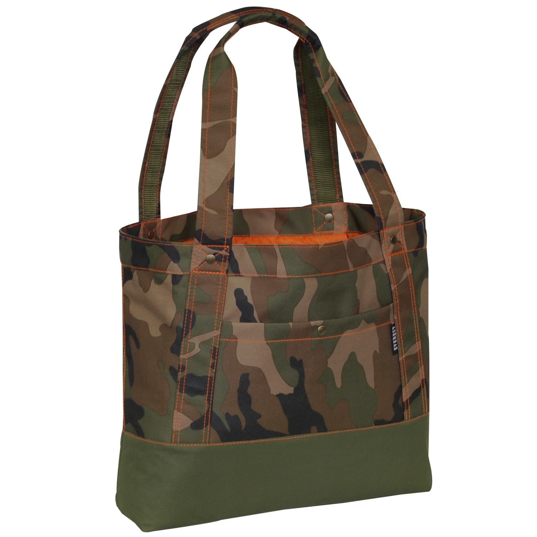 Everest Stylish Woodland Camo Tablet Tote Bag (Woodland C...