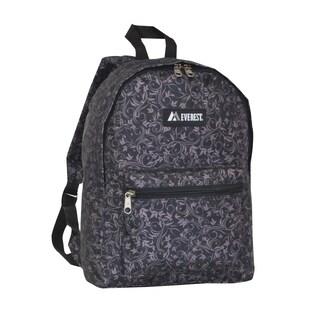 Everest 15-inch Basic Brown Vines Backpack with Padded Shoulder Straps