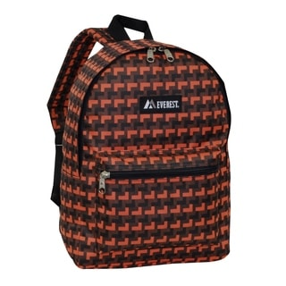 Everest 15-inch Basic Orange Steps Backpack with Padded Shoulder Straps
