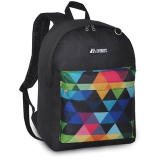 Everest 16.5-inch Classic Black Prism Backpack