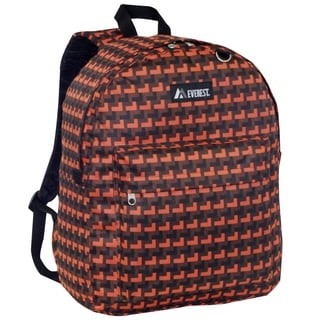 Everest 16.5-inch Classic Orange Steps Backpack