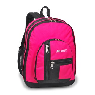 Everest 18-inch Double Main Compartment Backpack (Option: Hot Pink)