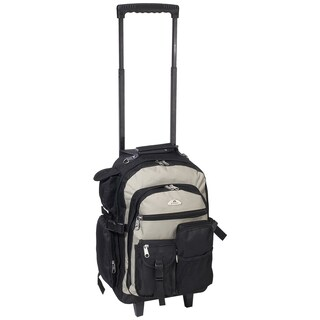 Everest 18.5-inch Deluxe Wheeled Backpack (Option: Khaki/Black)
